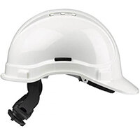 Scott Safety Style 300 HC335EL Vented Helmet with Terylene Ratchet Headgear White Ref HC335VELW