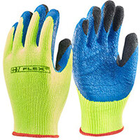 B-Flex Latex Thermo-Star Fully Dipped Gloves Size 10 Saturn Yellow - Ideal for refrigeration, cold store, and winter conditions Ref BF3SY10