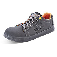 Click Footwear Sneaker Trainers Nubuck Size 3 Black - Steel Toe Cap, Composite Midsole Protection, Shock Absorber Heel, Anti-static, Oil Resistant Sole, Slip Resistant Ref CF1803