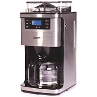 Igenix IG8225 1.5 Litre Bean to Cup Digital Filter Coffee Maker 1050W Brushed Stainless Steel Silver