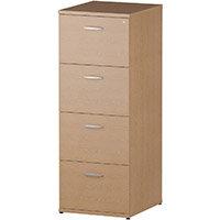 4 Drawer Filing Cabinet WxDxH 500x600x1445mm Oak