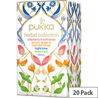 Pukka Individually Enveloped Tea Bags Herbal Heroes Collection Ref 5060229012388 Pack of 20