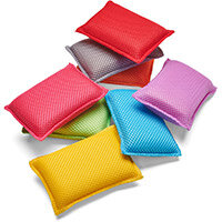 Addis Microfibre Cleaning Sponge Assorted Colours Ref 517394 Pack of 8