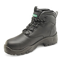 Click Footwear Non Metallic S3 PUR Safety Boots PU/Rubber/Leather Size 3 (36) Black - Composite Toe Cap & Midsole Protection, Shock Absorber Heel, Anti-static, Oil Resistant Sole, Heat Resistant & Slip Resistant,  Water Resistant Ref CF65BL03