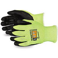 Superior Glove Tenactiv Hi-Vis Micropore Nitrile Grip 5 Yellow Ref SUSTAGHVPN05