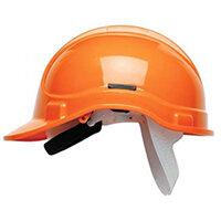 Scott Safety Style 300 HC300EL Unvented Helmet with Terylene Standard Headgear Orange Ref HC300ELOR