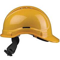 Scott Safety Style 300 HC335EL Vented Helmet with Terylene Ratchet Headgear Yellow Ref HC335VELY