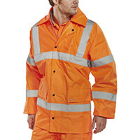B-Seen High Visibility Lightweight EN471 Jacket Small Orange Ref TJ8ORS