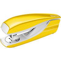Leitz NeXXt WOW Stapler Half Strip Metal 30 sheet Yellow Ref 55021016