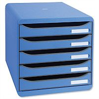 Ice Blue Filing Drawer Set Plastic A4+ 5 Drawers Each Multiform