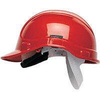 Scott Safety Style 300 HC300EL Unvented Helmet with Terylene Standard Headgear Red Ref HC300ELR