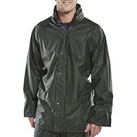 B-Dri Weatherproof Super B-Dri Jacket with Hood Size S Olive Green Ref SBDJOS