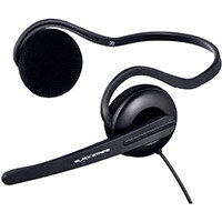 Hama Black Stripe PC Neckband Stereo Headset Black