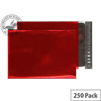 Purely Packaging C4 Foil Pocket 70 Mic Metallic Red Protective Envelopes Pack of 250