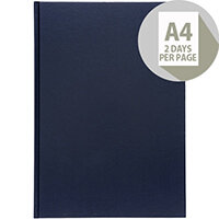 5 Star Office 2020 Diary Two Days to Page Casebound and Sewn Vinyl Coated Board A4 297x210mm Blue