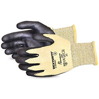 Superior Glove Dexterity Cut-Resistant Nitrile Palm 8 Black Ref SUS13KFGFNT08