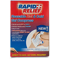Rapid Relief Reusable Hot/Cold Gel Compress Direct To Skin 6in x 9in Ref RA11369