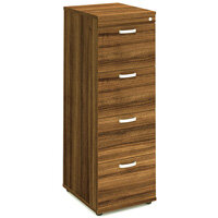 4 Drawer Filing Cabinet WxDxH 500x600x1445mm Walnut