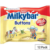 Nestle Milkybar Buttons White Chocolate Mini Bags 189g Pack of 12