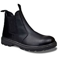 Supertouch Dealer Boots Leather Pull-On Design with Safety Toecap Black