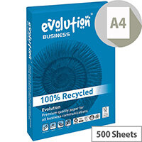 Business Evolution Recycled Paper 90gsm A4 White Ref EVBU2109 [500 Sheets]