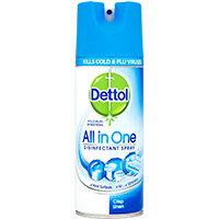 Dettol All in One Disinfectant Spray Crisp Linen 400ml Ref RB791301