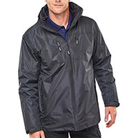 B-Dri 3 in 1 Weatherproof Mowbray Jacket Size L Black Ref MBBLL