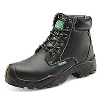 Click Footwear 6 Eyelet Pu Safety Boots S3 PU/Rubber/Leather Size 4 (37) Black Ref CF60BL04