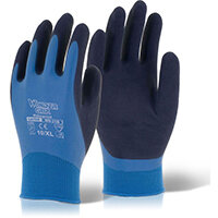 Wonder Grip Water resistant Aqua Glove Medium Blue Ref WG318M Pack of 12