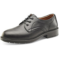 Click Footwear Managers Shoes S1 Leather Upper & Steel Toecap Size 6 (39) Black Ref SW201006
