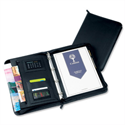 Conference Portfolio A4 Black Leather Look Zipped with Calculator 5090 Collins