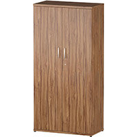 Tall Cupboard With 3 Shelves (4 Shelving Compartments) H1600xD400xW800mm Walnut
