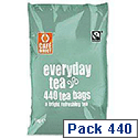 Cafe Direct Teabags Fairtrade Everyday Tea Pack 440