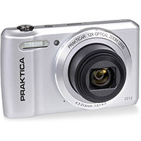 Praktica Z212 Digital Camera Kit 12x Optical Zoom Case & 32GB Micro SD Card Silver Ref PRA242