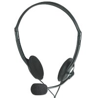 Manhattan Stereo Headset with Microphone - 2 x 3.5mm Audio Jack - for PC, Skype, Music, Multimedia - Lightweight, Volume Control