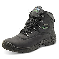 Click Traders S3 Thinsulate Boots PU/Leather/TPU Nubuck Size 6 Black - Steel Toe Cap, Slip Resistant & Shock Absorber Heel, Anti-static & Oil Resistant Sole, Water Penetration Resistant Ref CTF24BL06