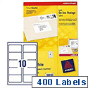 Avery Smartstamp Laser Labels L5103-40 10 per Sheet 135 x 38mm 400 Labels