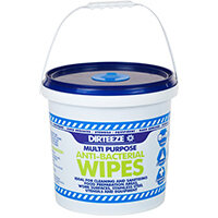 Dirteeze Anti-bacterial Wipes Dispenser Bucket Blue Ref DZAB1000 [1000 Wipes]
