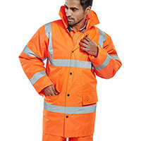 B-Seen High Visibility Constructor Jacket Small Orange Ref CTJENGORS