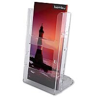 Deflecto Leaflet Holder DL Size 1/3 x A4 Modular Wall Mountable Lit-loc Clear