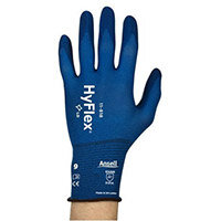 Ansell HyFlex 18 Gauge, Size 6 Multi-Purpose Palm Coated Light-Duty Work Gloves Blue