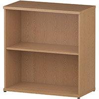 Low Bookcase with 1 Shelf H800mm Oak