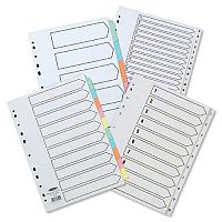 Concord A4 Recycled Dividers 5-Part Coloured Tabs