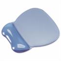 Mouse Mat Pad Wrist Rest Gel Transparent Blue