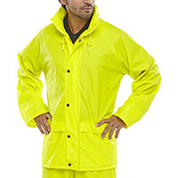 B-Dri Weatherproof Super B-Dri Jacket with Hood Size M Saturn Yellow Ref SBDJSYM
