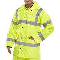 B-Seen High Visibility Lightweight EN471 Jacket Size 5XL Saturn Yellow Ref TJ8SY5XL