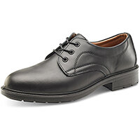 Click Footwear Managers Shoes S1 Leather Upper & Steel Toecap Size 7 (41) Black Ref SW201007