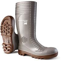 Dunlop Acifort Safety Wellington Boots Heavy Duty Size 6.5 Grey Ref A242A3106.5