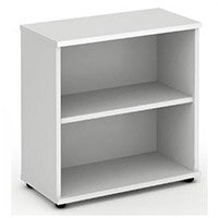 Low Bookcase with 1 Shelf H800mm White