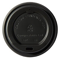 Dispo Kraft Disposable Hot Cup 8oz PLA Plastic Compostable Bio-Gradable Lids Ref 44885 Pack of 50
